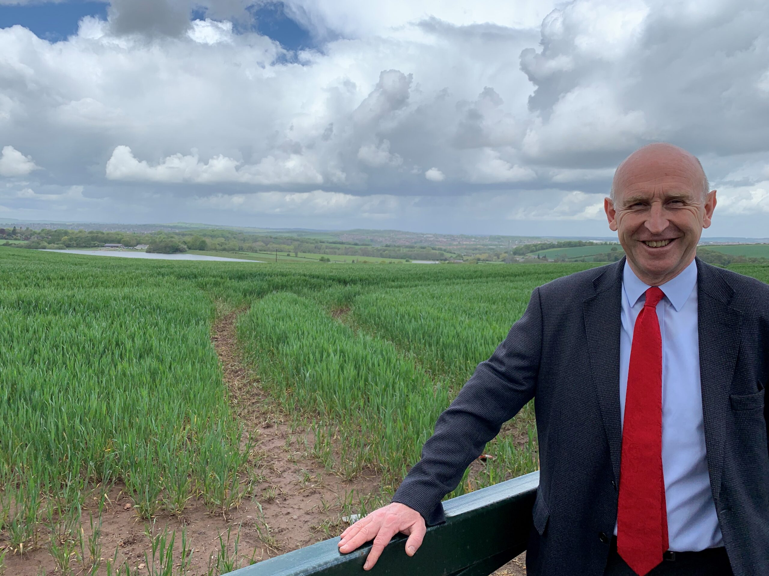 John Healey MP overlooking Thrybergh.