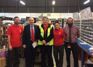 John Healey MP visits postmen and women at Manver sorting office before Christmas