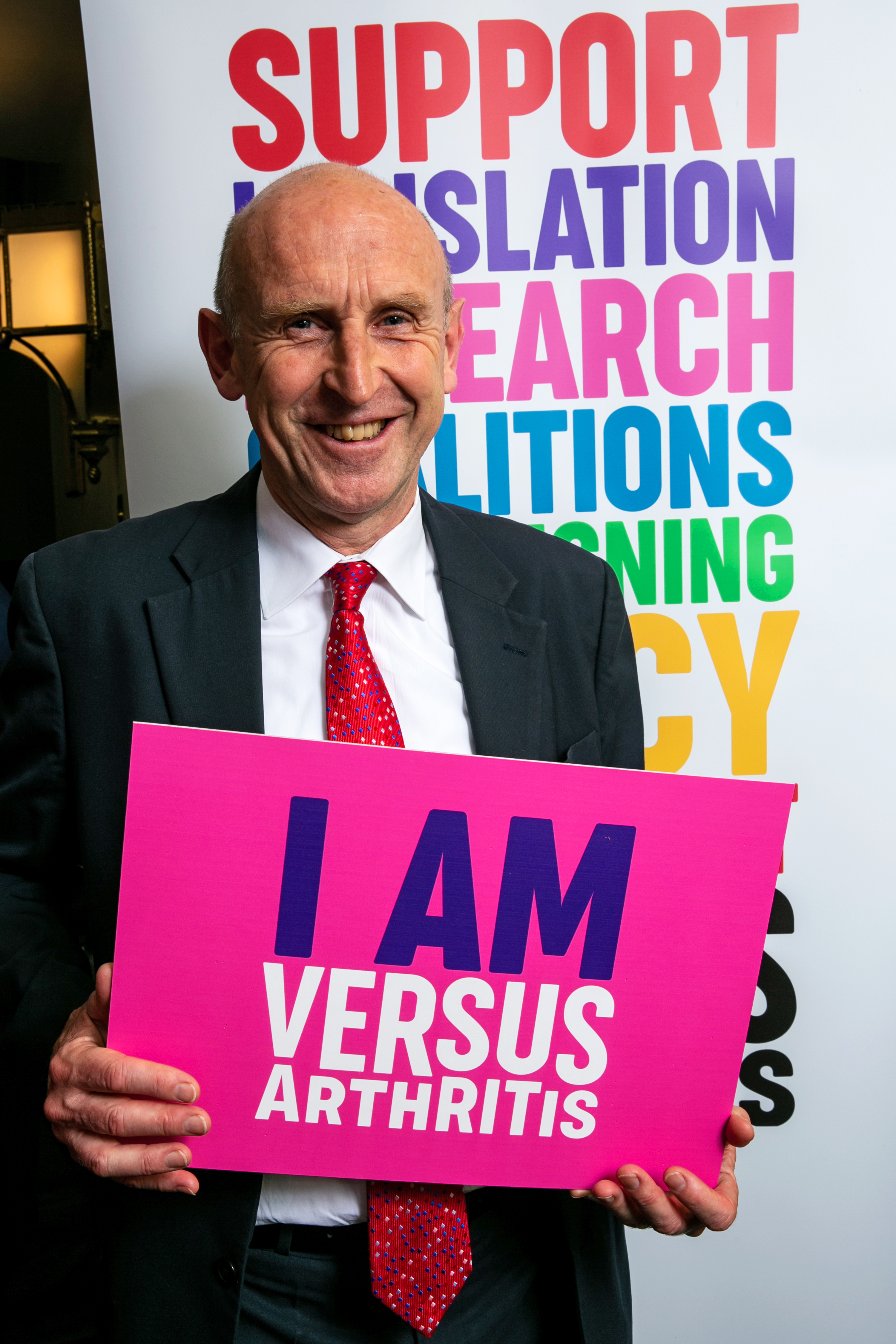 John Healey at the Versus Arthritis 'Working It Out' reception