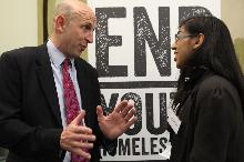 john healey at the end youth homelessness alliance launch_be