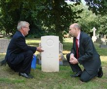 john healey mp and stephen stapleton of commonwealth war graves commission at wath cemetery (4) - copy_be