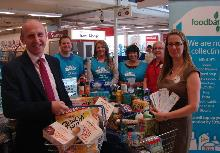 john healey mp at tesco food bank collection - copy_be