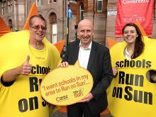 john healey mp backing the friends of the earth run on sun campaign - copy_be