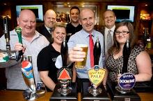 john healey reopens the refurbished brush and easel pub flanderwell_be