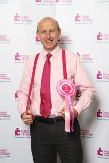 john healey supporting breast cancer campaign wear it pink - copy_be