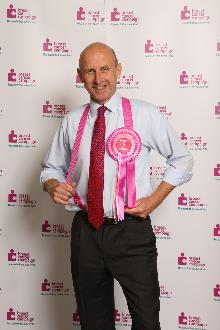 john healey supporting breast cancer campaign's wear it pink day_be