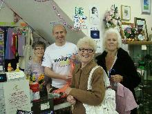 john healey volunteering in the rotherham hospice shop wath for volunteers week 2012_be