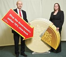 john healey with carrie fineran at usdaw event - copy_be