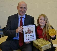 john healey with christmas card competition winner_be