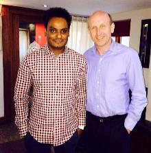 john healey with naz haque of cafe naaz_be