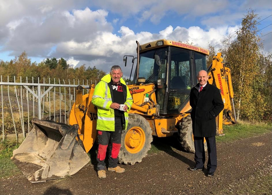 John Healey MP seeing work done to tackle anti-social behaviour at Manvers.
